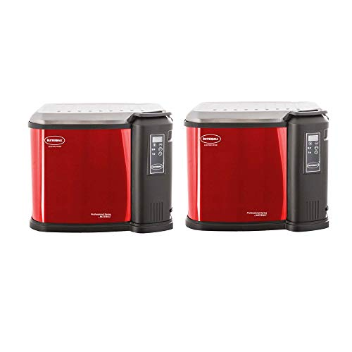 Masterbuilt Butterball XXL Digital Electric Indoor Outdoor 22lb Turkey Fryer, Cinnamon (2 Pack)