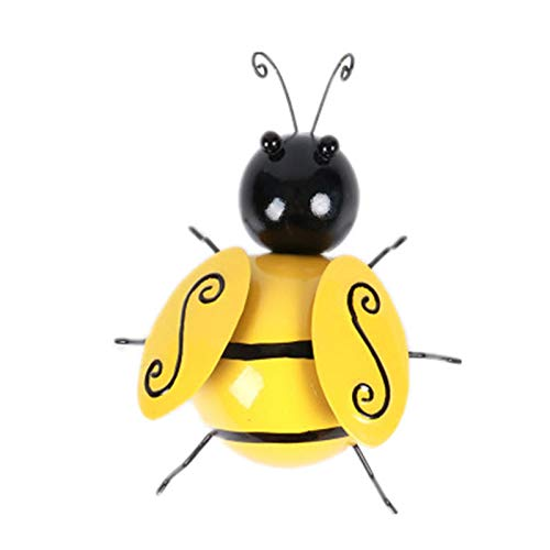 Janly Clearance Sale Collection Decorative Metal Bumble Bee Garden Accents Lawn Ornaments , Home Decor forHome & Garden , Easter St Patrick's Day Deal (D)