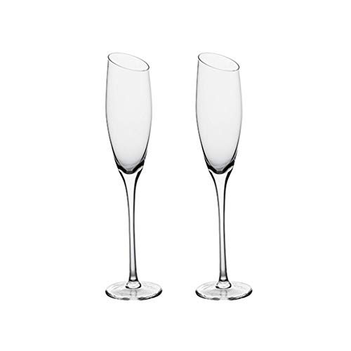 Mdjywl Gafas de Champagne, Copas de Vino de Cristal Conjunto de 2,...