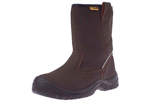 WALKX Herren Sicherheits Arbeits Stiefel Schuhe S3 SRC - 3M L-Protection® 41