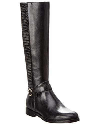 Cole Haan Leela Grand Riding Boot Black Leather 5