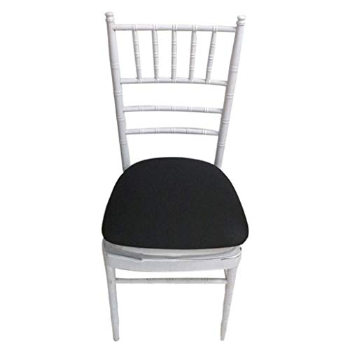 WedDecor Spandex Sitz Stuhl Pad Husse für Chiavari, Hochzeit Restaurant Barhocker Bankett Esszimmer Husse, Dehnbar und Elastisch Deckel - Schwarz