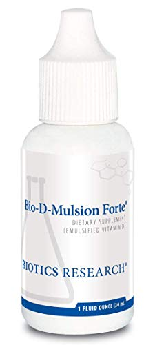 Biotics Research Bio-D-Mulsion Forte  - Vitamin D3 Liquid Drops 50 MCG(2000 IU) for Best Absorption, Strengthens Bones, Supports The Immune System, Cardiovascular System