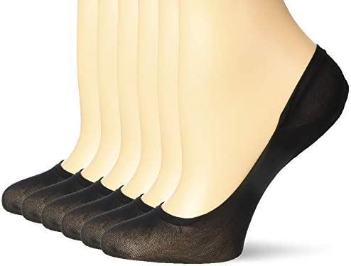 Hanes Silk Reflections Women s Sheer Liners 6 Pack Jet M L product image