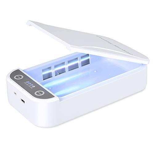 「最新版」 UV携帯電話殺菌 最新Box スマホ 99%細菌消滅 殺菌 紫外線消毒ボックス洗浄器 超音波クリーナー ...