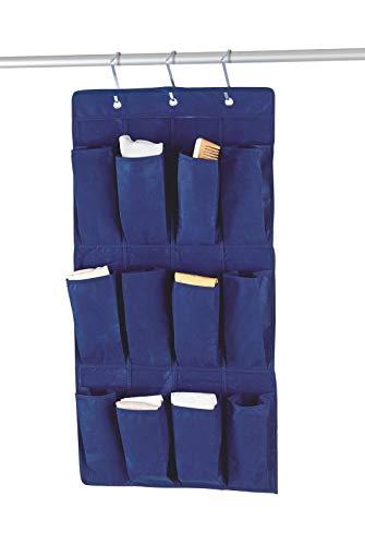 bester Test von ebay zeit fur auktionsende Quantio WENKO AIR Hanging Organizer – 12 Fächer, 48 x 86 cm (Breite x Höhe), Fleece, atmungsaktiv, blau, einschließlich.