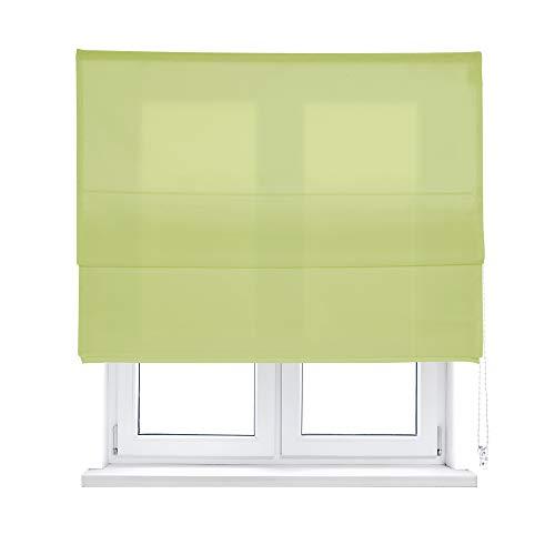 KAATEN - Estor Plegable con Varillas/Basico Color Verde/Tejido LONETA/ACCIONAMIENTO A CORDÓN (90_x_175_cm,...