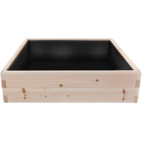 "Cedar Raised Garden Bed Kit (48"" x 48"" x 12""), Weed Barrier Included"