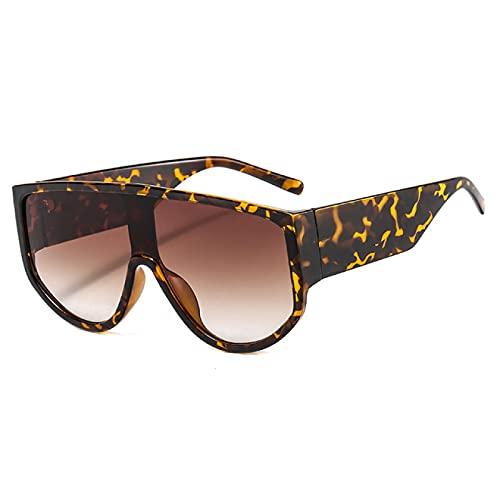 Lsdnlx Gafas de Sol Redondas de una Pieza de Gran tamaño Gafas de SolColoridas paraMujerGafas deSol paraHombre