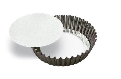 Moule à gâteau rond cannelé 100 mm fond amovible