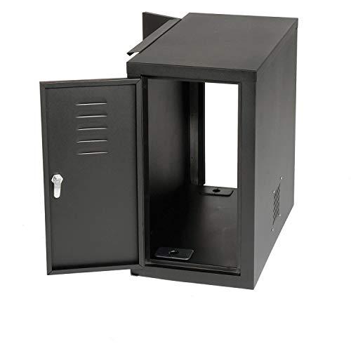 "Computer Cabinet Side Car, Black, 12""W x 22-1/2""D x 21-1/2""H"