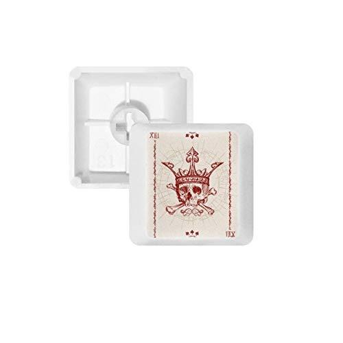 Hartjes Spade Rode Kroon Skeleton Poker Card PBT Keycaps voor Mechanisch Toetsenbord Wit OEM Geen Markering Print R4 Multi kleuren