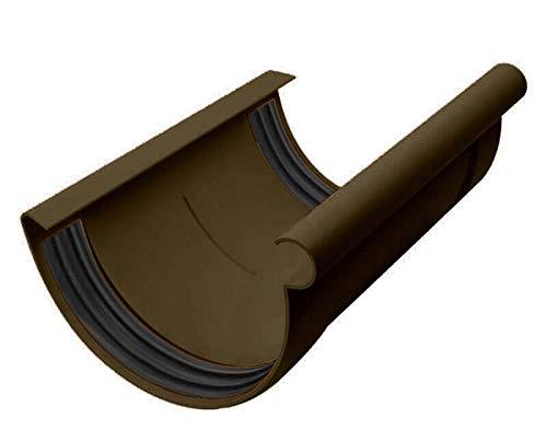 INEFA Rinnen-Verbindungsstück halbrund Dunkelbraun NW 100 - Kunststoff, Verbinder für Regenrinne, Rinne, Dachrinnen, Dachrinnenverbinder, Rinnen Zubehör