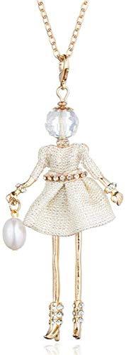 HJTLK Collar de Regalo del día de San Valentín, Sweet Lady Gauze Bow Dress Doll Collar Mujeres Joyas Joyas Joyas,