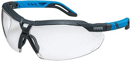 Uvex i-5 - Schutzbrille für Arbeit & Labor - Transparent/Anthrazit-Blau