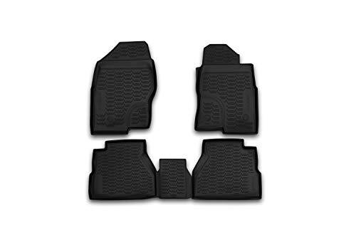 Element EXP.ORIG.36.49.210k Tailored Custom Fit 3D Rubber Floor Mats for Nissan Navara Double Cab, 2010-2015, Black
