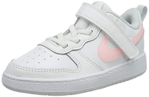 Nike Jungen Unisex Kinder Court Borough Low 2 Sneaker, White/Arctic Punch-Light Armory Blue-Pure Platinum, 27 EU