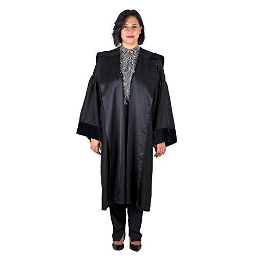SKÉMATA - Toga moderna para abogado de mujer de tela de eucalipto Tencel - La Toga hipoalergénica para pieles sensibles Negro S