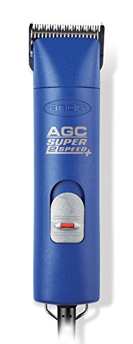 Andis 22405 ProClip AGC Super 2-Speed Detachable Blade Clipper, Professional Animal Grooming, Blue,...