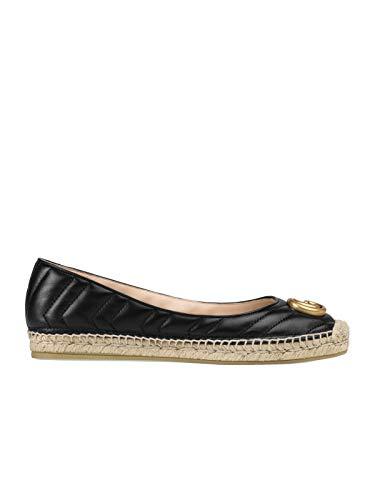 Luxury Fashion | Gucci Dames 602505BKO001000 Zwart Leer Ballerina's | Lente-zomer 20