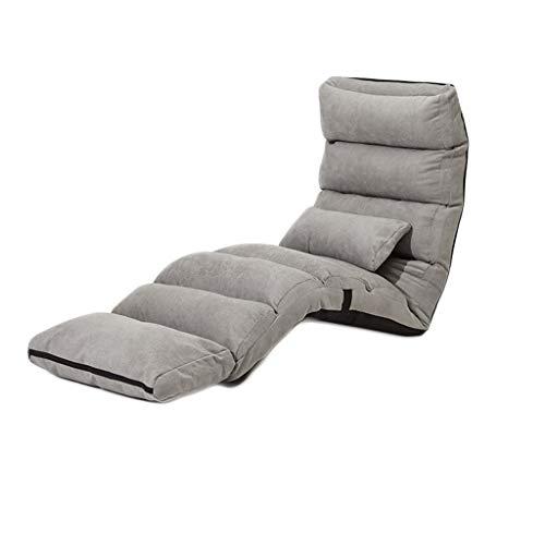 TXXM Lazy Sofa Freizeit Faltbarer Einzellehner Schlafsaal Schlafzimmer Bett Computer Stuhl (Farbe: F)