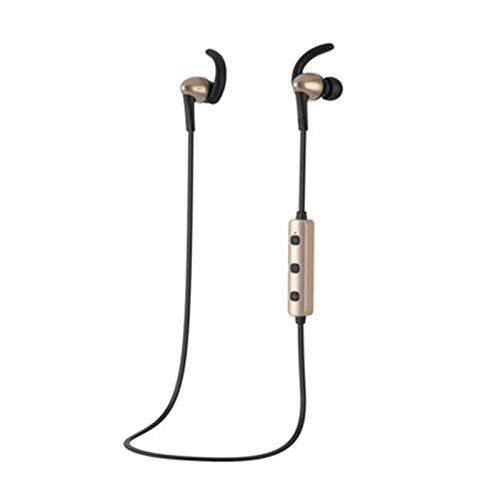 NXQLZHK Juego de Deportes Música Auricular Bluetooth, Ligero, portátil y cómodo Alambre controlado Sonido de Alta fidelidad de Calidad en la Oreja Auriculares Black