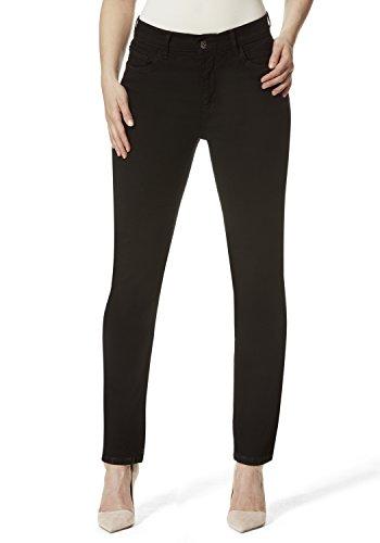 Stooker Damen Stretch Jeans Hose - Zermatt - Slim FIT - Black Denim Wash - Schwarz (34W x 32L)