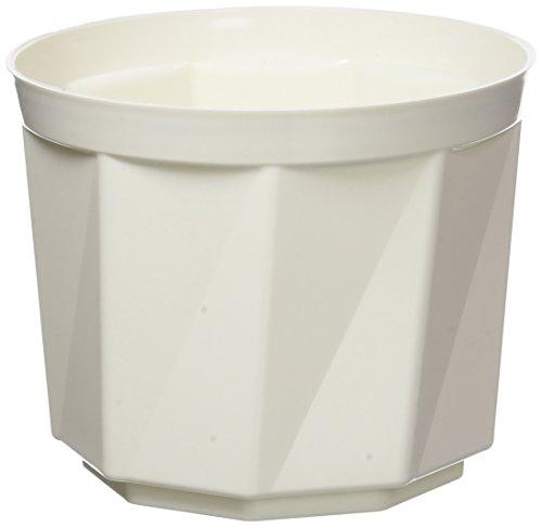 Plastkon Décoration Pot Rose Diamètre 15 cm, Blanc