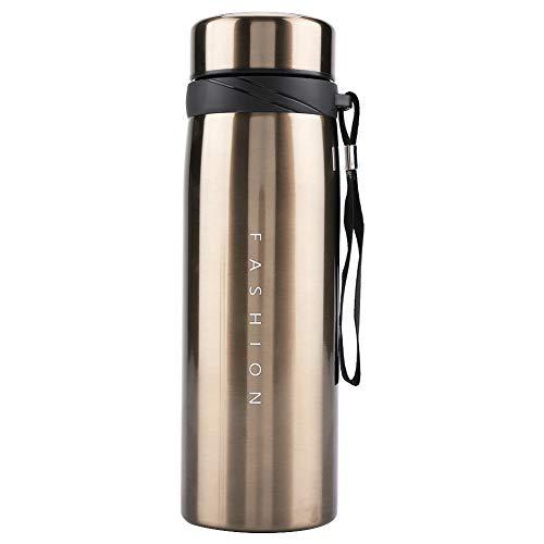 Taza de vacío Boaby Taza de vacío de acero inoxidable Botella de agua de mantenimiento caliente Vasos para beber de viaje(900ml-Oro)