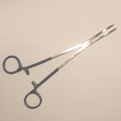 Arterienklemme mit ummantelten Griff / 20cm gebogen, Hakenlöser, Zange, Rostfreier Edelstahl! Expert Anglers