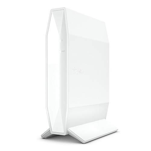 Belkin RT1800 Router Wi-Fi 6, AX1800, Router Wireless Dual Band Veloce per Streaming e Videogiochi, Filtri Famiglia, 4 Porte Gigabit Ethernet, Bianco