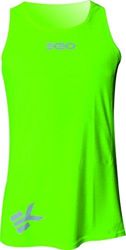 Ekeko, canottiera da jogging 'Xrace', maglietta senza maniche per uomo, uso:per corsa, atletica leggera, pallavolo e perfetto per la palestra,traspirante e leggera, Gelb, S