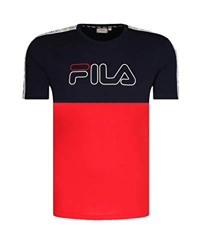 FILA Camiseta para hombre Taped azul marino y rojo. XXL