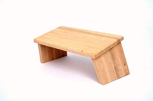 Handelsturm Meditationsbank Bänkchen für die Sitzmeditation klappbarer Meditationssitz aus Eschenholz