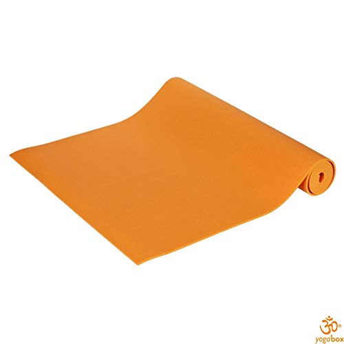 Yogamatte Premium 200 x 60 x 0, 3 cm Made in Germany, orange