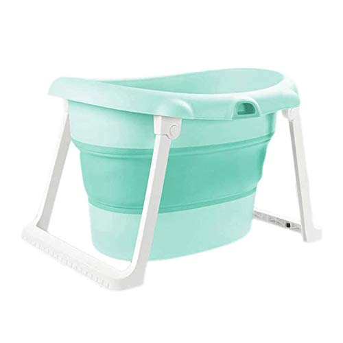 Why Should You Buy ZQY Baby Swimming Pool Household Plastic Tub Folding Thick Bath Tub Baby Products...