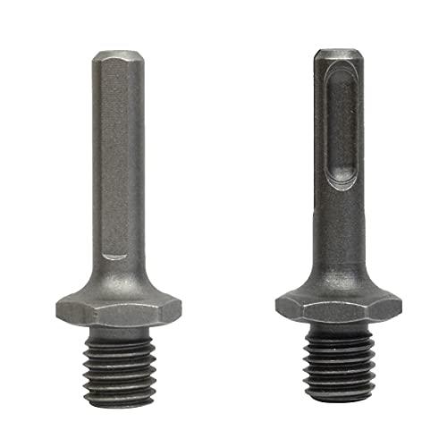 ASNOMY 2 adaptadores para brocas de diamante con conexión M14, SDS Plus y Triangle vástago Adapter voor M14