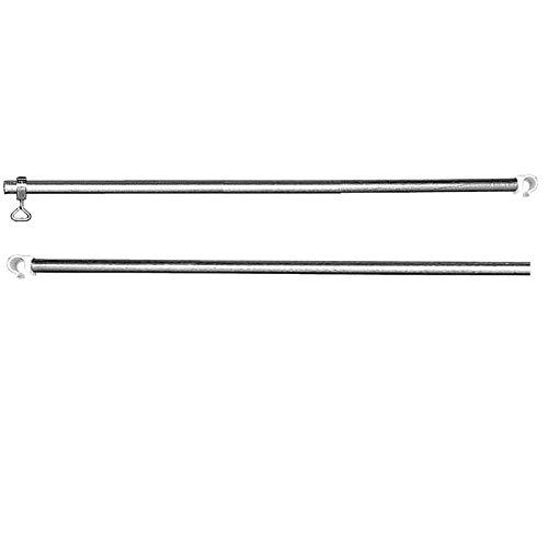 Aluminium Zeltstange 2 teilig 110-200cm teleskopierbar Verandastange Dachauflagestange 2 Klemmen Dachstange Zeltgestänge Zeltstangen Ersatzstangen Vorzeltstange Zelt Teleskopstange verstellbar Stange