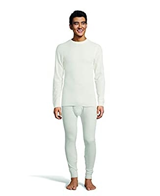 Hanes Men's Ultimate Thermal Crew Neck Long Sleeve T-Shirt with FreshIQ, X-Temp Technology & Organic Cotton