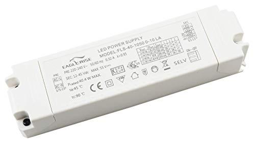 HuaTec LED Trafo 30W 40W 50W Dimmbar 1-10V Push Taster (Pri, Sec) Multi Ausgang 12V 24V 250mA - 1050mA Flickerfree LED Netzteil Treiber Driver (40W 0-10V)