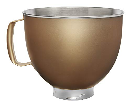 Custom Stand Mixer Bowl, 5 quart, Victoria Gold Painted Stainless Steel - KitchenAid KSM5SSBVG