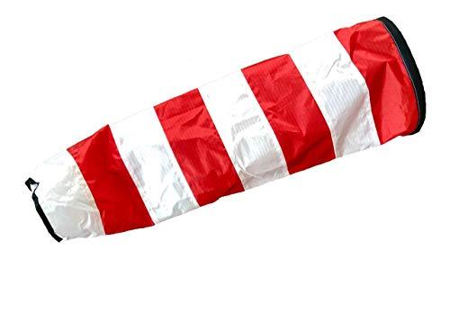 molinoRC Weiß - roter Windsack | wie auf Flugfeld | 2019 | Durchmesser 17cm | Windsack 70cm | Windsocke | Windspiel | Wetterfahne | Windturbine | 📦 | 🇩🇪 | ✅ | 😊 |🥇