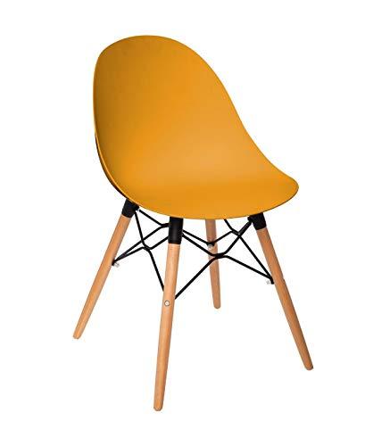 Sedia Ezra Diner Chair in polipropilene Mustard Ezra Diner