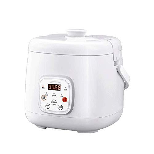 WCJ Hogar Multifuncional arroz Cocina/Vapor con la Cacerola Antiadherente, Cubierta de Escape de Vapor y Simple de Acero Inoxidable de un Solo botón, portátil de múltiples Funciones