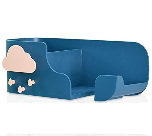 Ldawy Holder Soporte para secador de Pelo,Soporte para secador de Pelo montado en la Pared,Estante de baño no Perforado para secador de Pelo, Cepillo de Dientes, Peine(Azul Marino)