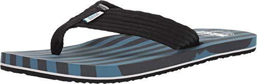 Reef Men's Flip-Flop, Black Blue, US:6.5
