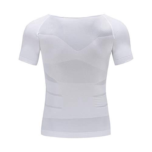 Jwans Chaleco Moldeador Adelgazante para Hombre Camiseta de corsé de compresión de Abdomen para Hombre Camiseta cómoda y Transpirable