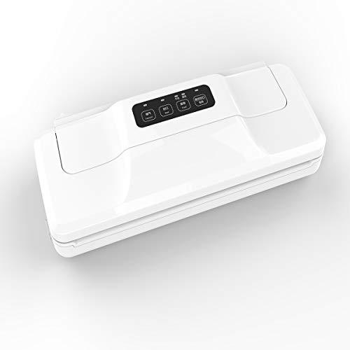 LSLY Envasadora Al Vacío Automático, Envasadora Al Vacío Automática Food Saver, Sellado De Alimentos Modo Seco Y Húmedo con Cortador, Blanco