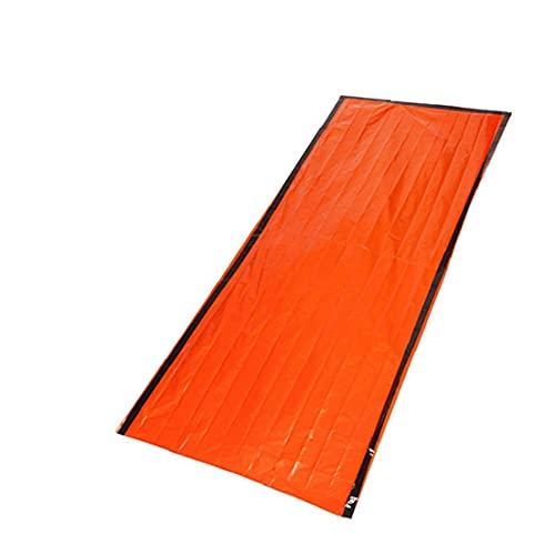 Hainice LifeSaving Sagming Save PE Aluminio Portátil Emergencia Bolso para Dormir para al Aire Libre Camping Senderismo Escalada Naranja
