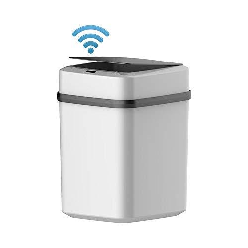 Dyna-Living Sensor Mülleimer Küche Bad 10L, Sensor Automatik Abfalleimer mit Geruchdichtem Deckel